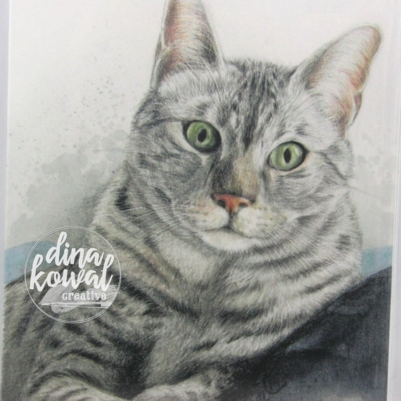 Notecards (set of 3) - cat - Egyptian Mau