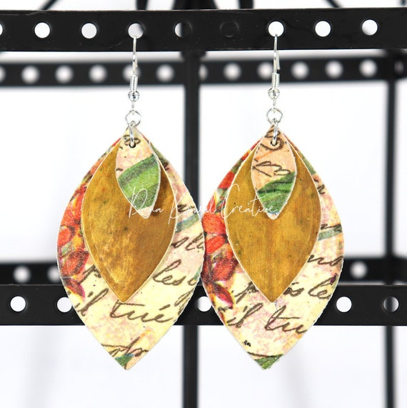 Mixed Media Earrings - Toni