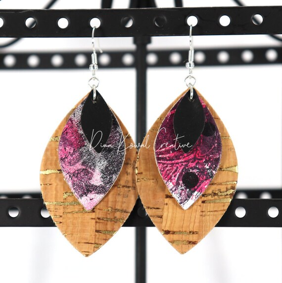 Mixed Media Earrings - Alyssa