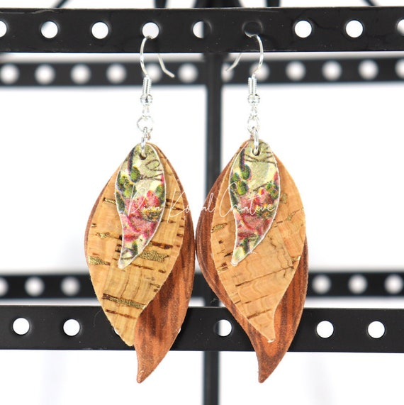 Mixed Media Earrings - Regan
