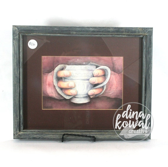 "Morning Tea -  5""x 7"" - matted and framed print"