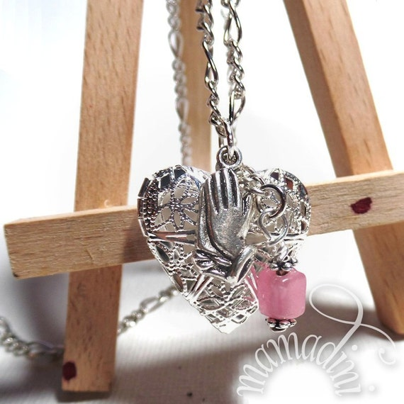 Essential Oil Diffuser Locket - Praying Hands