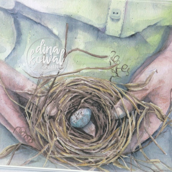 Notecards (set of 3) - Bird Nest