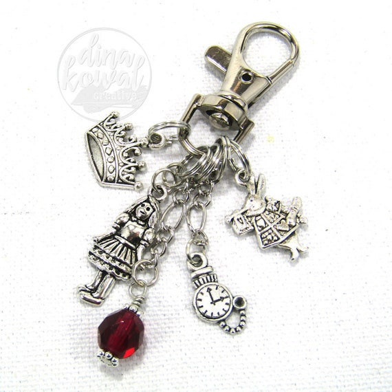 Alice in Wonderland White Rabbit Purse Charm Zipper Pull