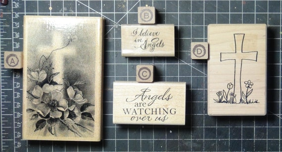 Rubber Stamps - YOU CHOOSE - wood mounted lot I1 - religious christian inspirational theme