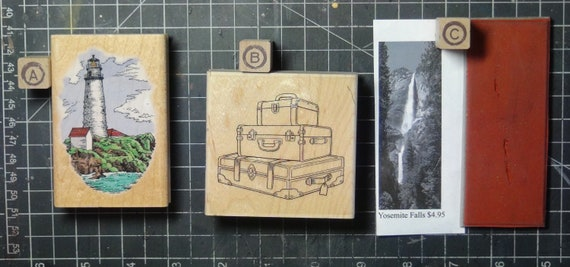 Rubber Stamps - YOU CHOOSE - wood mounted lot H1 - Travel theme