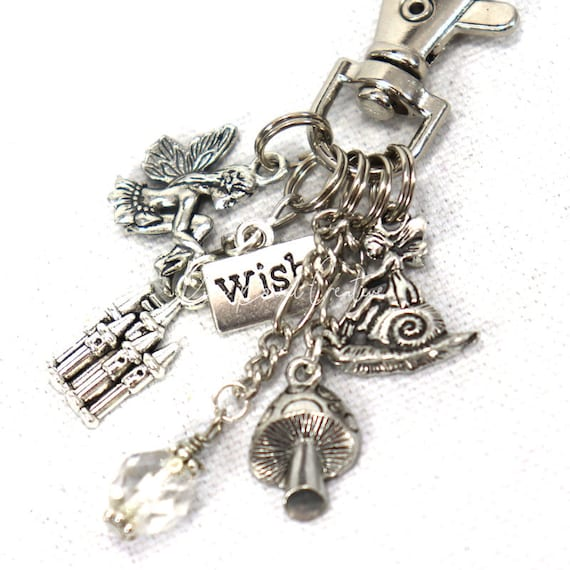Fairy Wish Castle Garden Purse Charm Zipper Pull Zipper Pull Keychain