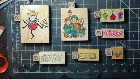 Rubber Stamps - YOU CHOOSE - wood mounted lot F2 - Christmas holiday theme