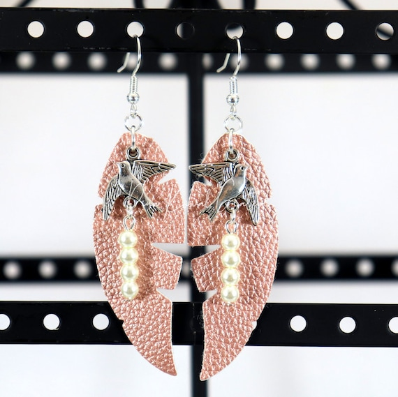 Mixed Media Earrings - Betty