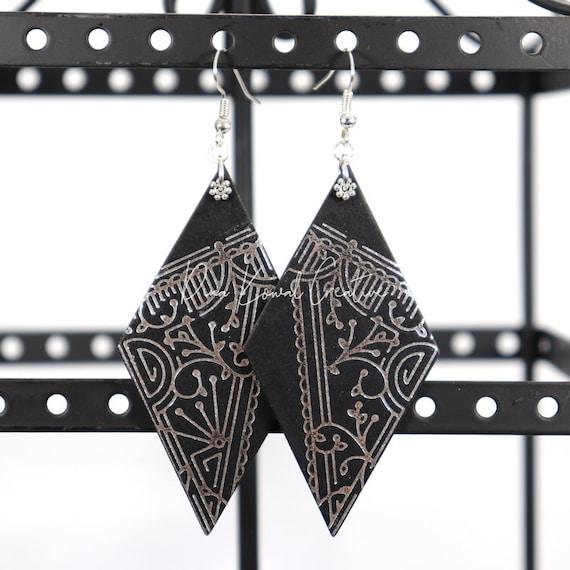 Mixed Media Earrings - Marissa