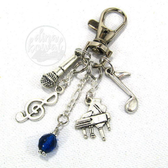 Piano Music Leader Purse Charm Zipper Pull Zipper Pull Keychain