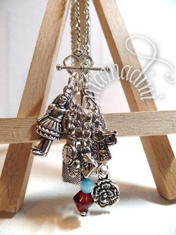 Charm Necklace - Alice in Wonderland - Tea Party