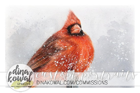 Notecards (set of 3) - Cardinal - nature - sympathy - memory - loved one - winter - bird