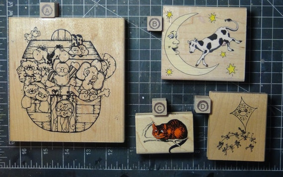 Rubber Stamps - YOU CHOOSE - wood mounted lot D2 - children story theme
