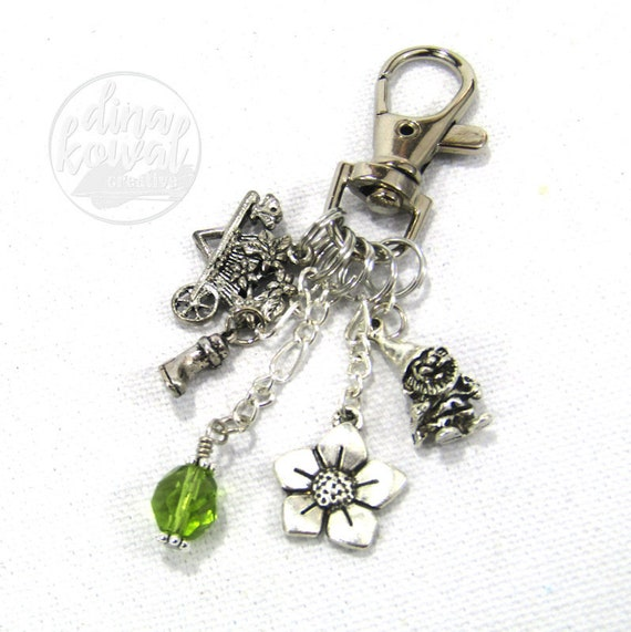 Gardener Purse Charm Zipper Pull