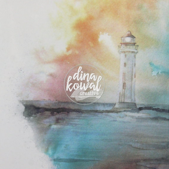 Notecards (set of 3) - Watercolor Lighthouse