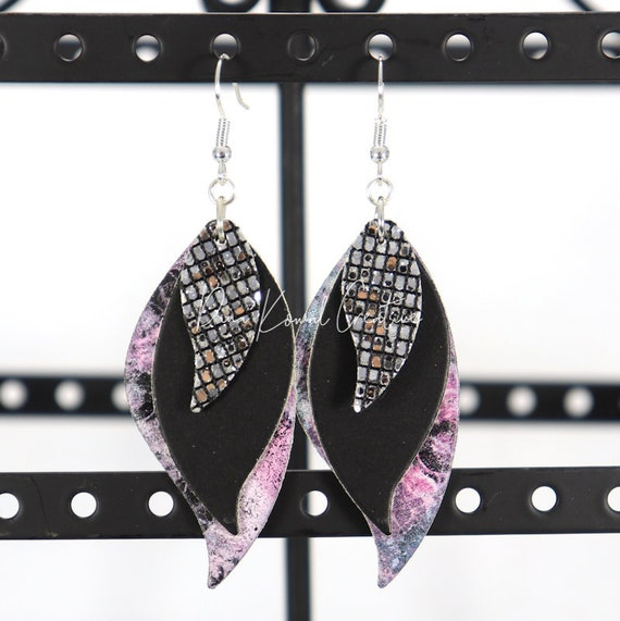 Mixed Media Earrings - Nancy