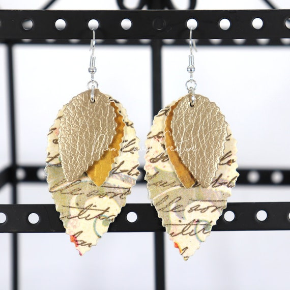 Mixed Media Earrings - Penny