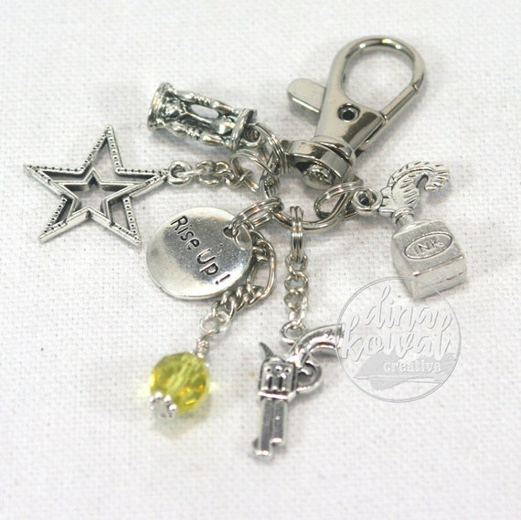 Hamilton Inspired Broadway Rise Up Purse Charm Zipper Pull Zipper Pull Keychain