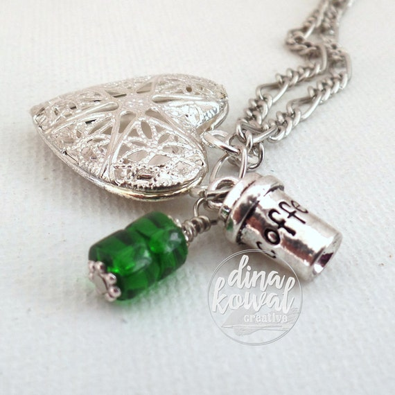 LAST ONE! Essential Oil Diffuser Locket - Takeout Cup Starbucks Tribute