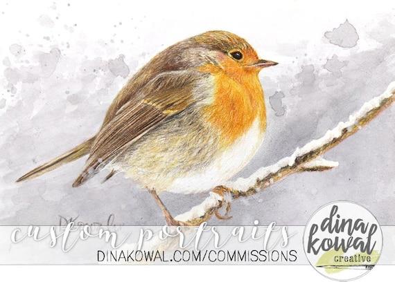 Notecards (set of 3) - English Robin