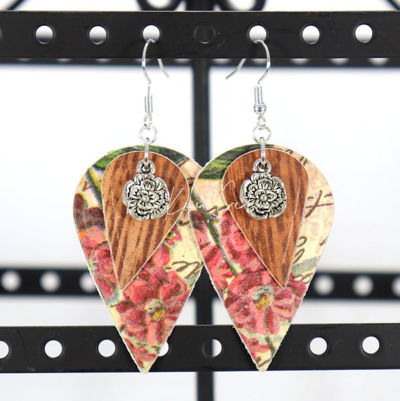 Mixed Media Earrings - Jeanette