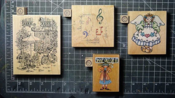 Rubber Stamps - YOU CHOOSE - wood mounted lot L1 - mixed themes