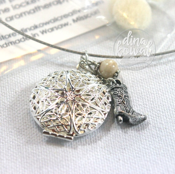 LAST ONE! Essential Oil Diffuser Locket - Boot