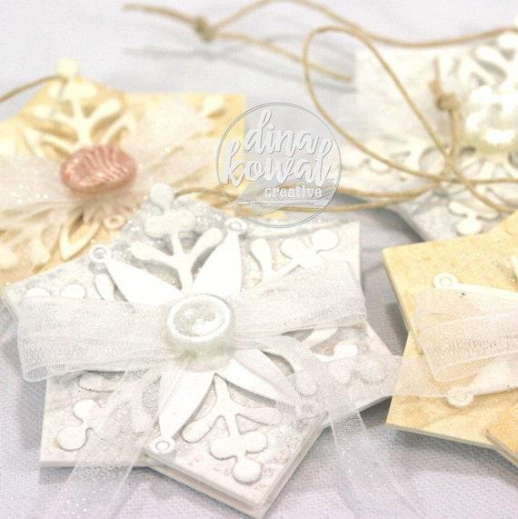 Snowflake Tags - set of 4