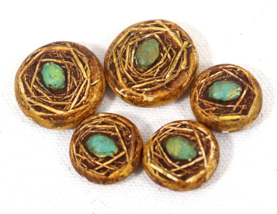 Polymer Clay Nest Beads