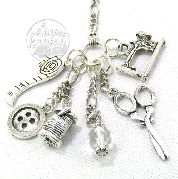 Charm Necklace - Sewing Quilter Seamstress