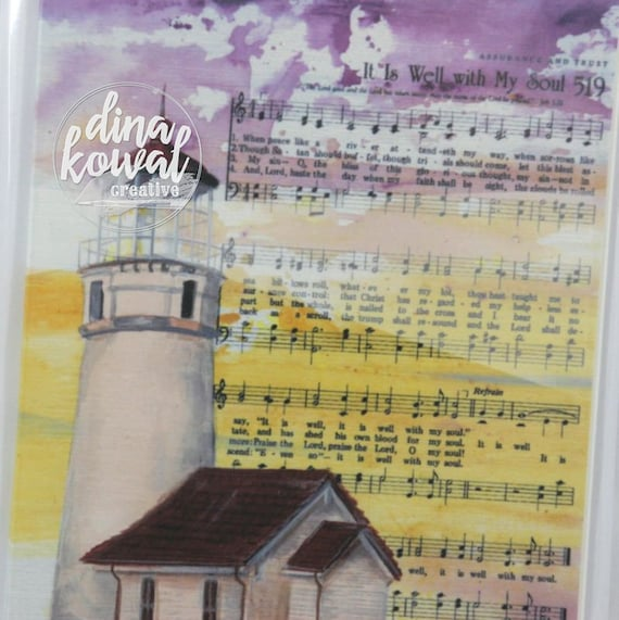 Notecards (set of 3) - It Is Well - lighthouse