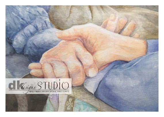 Memories - watercolor print - sympathy - aging parent - caregiver - assisted living nurse