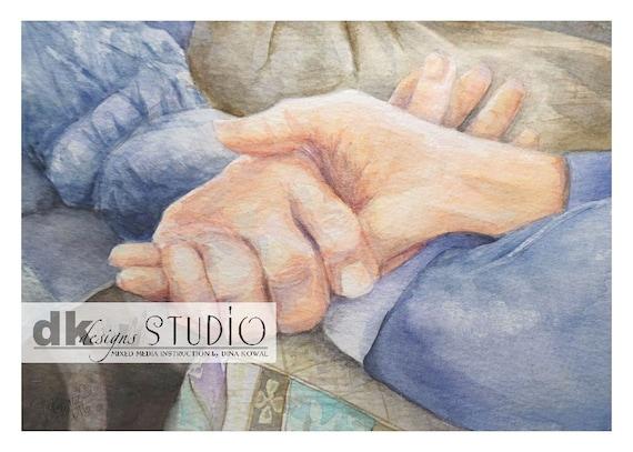 Memories - watercolor print - sympathy - aging parent - caregiver - assisted living nurse