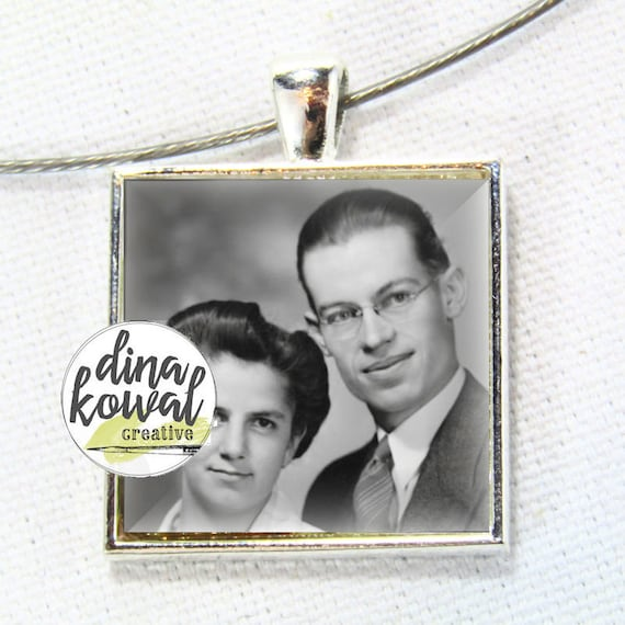 Custom photo keepsake - domed glass tile pendant necklace