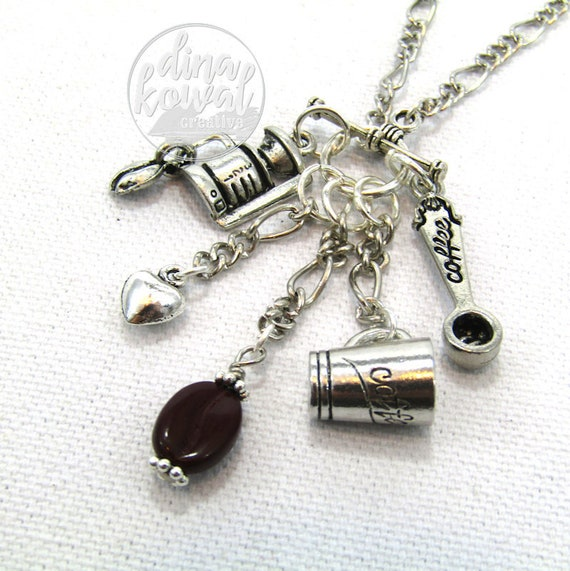 Charm Necklace - Coffee Maker
