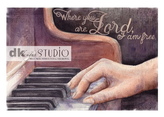 Free - watercolor print - piano - worship - music leader - pianist or musician