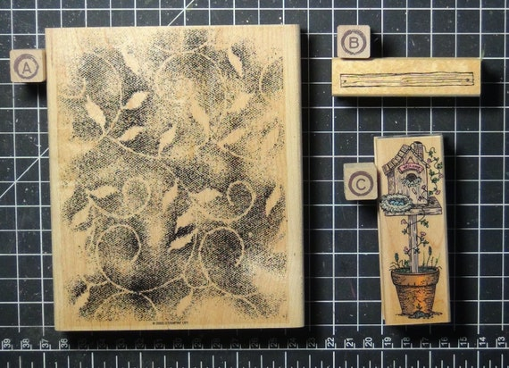 Rubber Stamps - YOU CHOOSE - wood mounted lot N1 - nature and garden theme