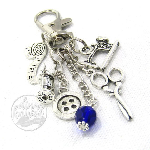 Purse Charm - Sewing Quilter Seamstress