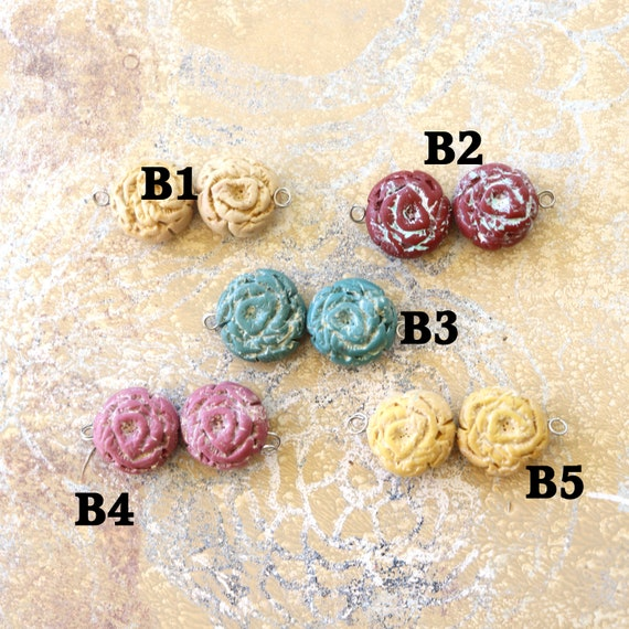Polymer Clay Rose Beads