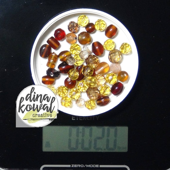 Destash - 2 oz. quality glass bead mix - brown 1