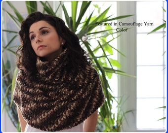 Reversible and Versatile Crocheted Turtle Neck Capelet