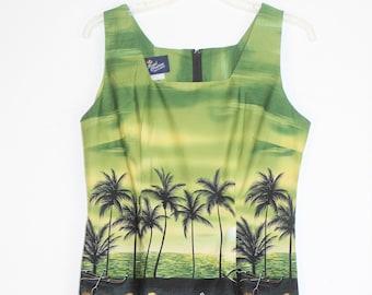 Vintage Hawaiian dress b Royal Creations size large