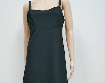 Vintage 80's Black Bodycon Trophy Club Dress by All That Jazz USA Size 12 Large