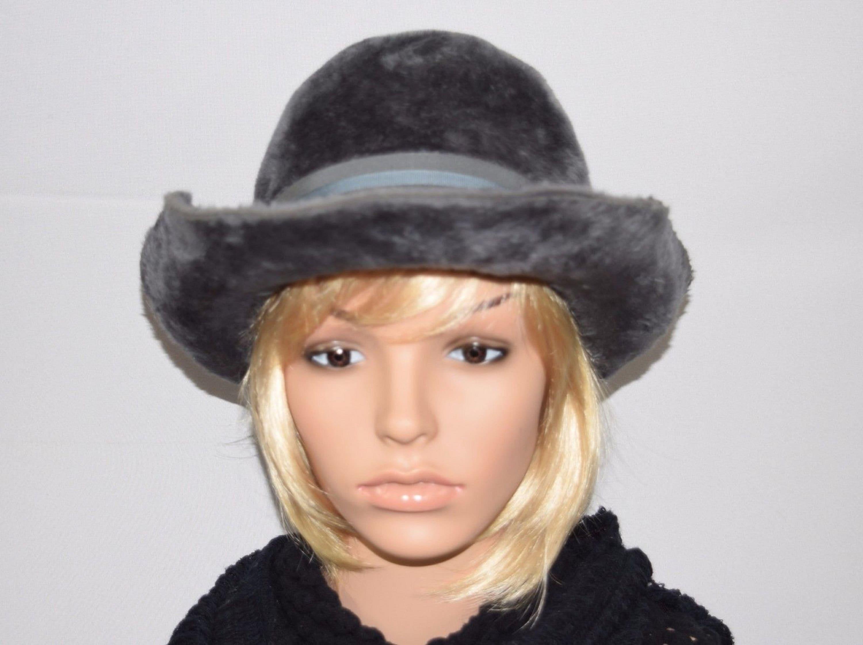 b4d13bdd0a4 Vintage 60 s Mod Gray Fur Felt Yves Saint Laurent YSL Hat
