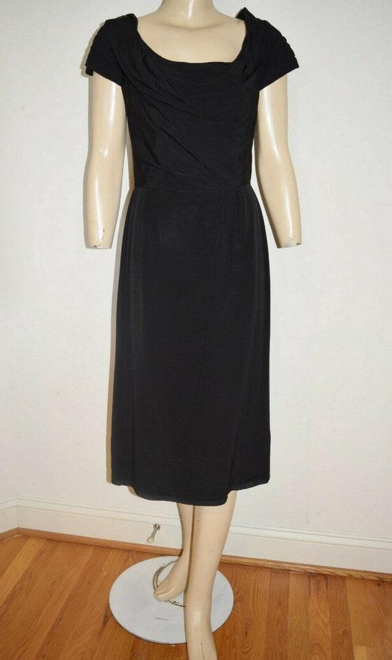 Vintage 50's Designer CEIL CHAPMAN Black Dress Siz