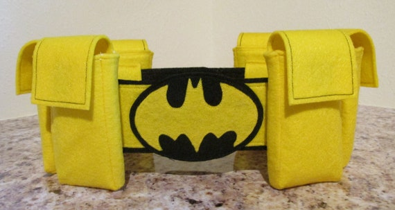Batgirl Inspired Superhero Belt  Batman Inspired Superhero Belt  Superhero Belt with usable pockets  kids Belt  Utility Belt  Cosplay