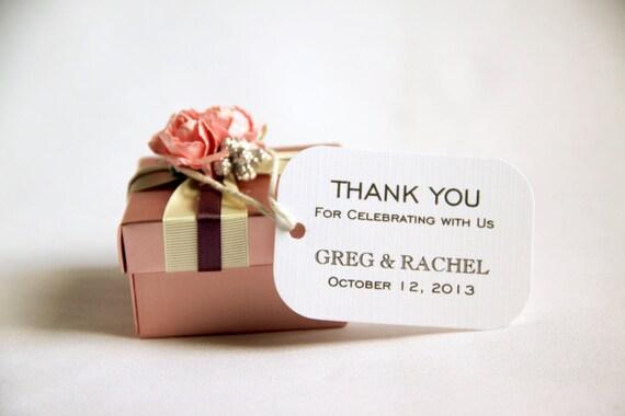 Modern Wedding Gifts: 50 Custom Wedding Favor Gift Tags Modern Thank You For