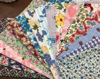 Feedsack Fabric Lot 36 Large Pieces