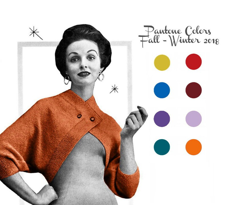e125dc919f3a3 Vintage Knitting Pattern 1950s Cross Over Bolero Shrug Digital